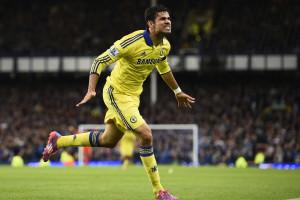 Com dois de Diego Costa, Chelsea goleia Everton por 6-3