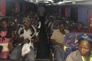 Haitianos e senegaleses estão a caminho da região Sul