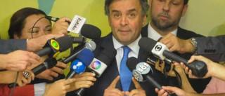 """""""Se STF aceitar denúncia, Cunha deve deixar o cargo"""", diz Aécio"""