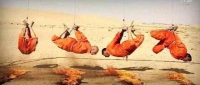 Estado Islâmico acorrenta e queima prisioneiros