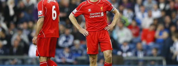 Liverpool só empata com West Bromwich e fica longe dos líderes