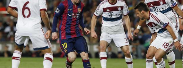 Messi brilha, Barcelona dá show e faz 3 a 0 no Bayern