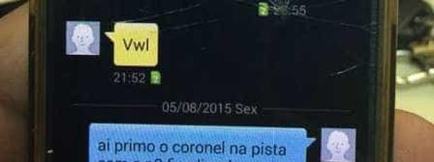 Sargento é preso por avisar traficante de operações por SMS