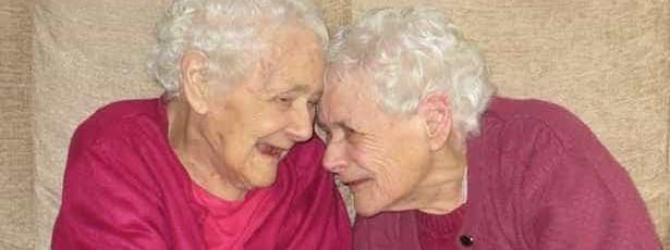 Gêmeas inseparáveis morrem aos 103 anos com semanas de diferença