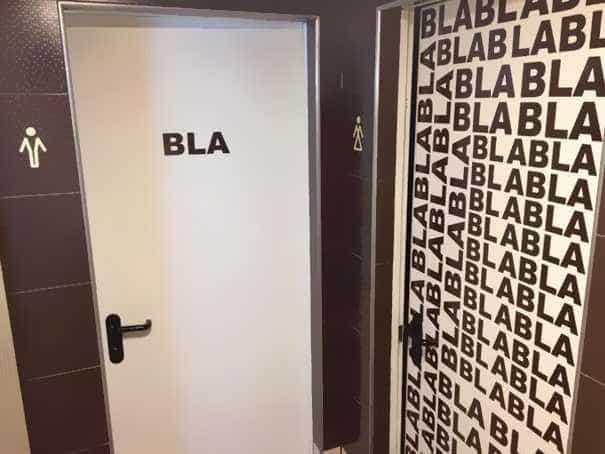 Confira 40 placas de banheiro criativas pelos bares do mundo afora  RádioSup -> Banheiro Feminino Bla Bla Bla