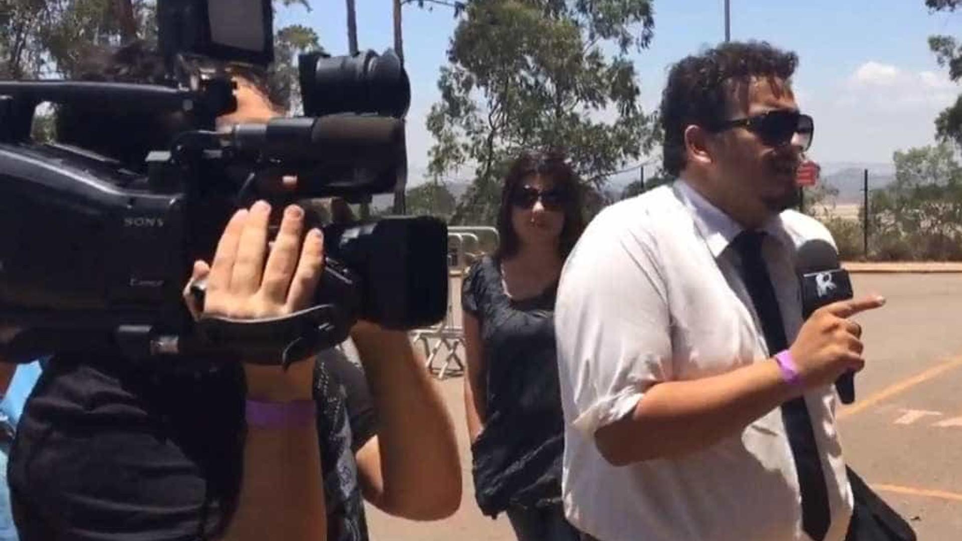 """CQC é barrado em coletiva da Samarco: """"eles têm medo das perguntas"""""""