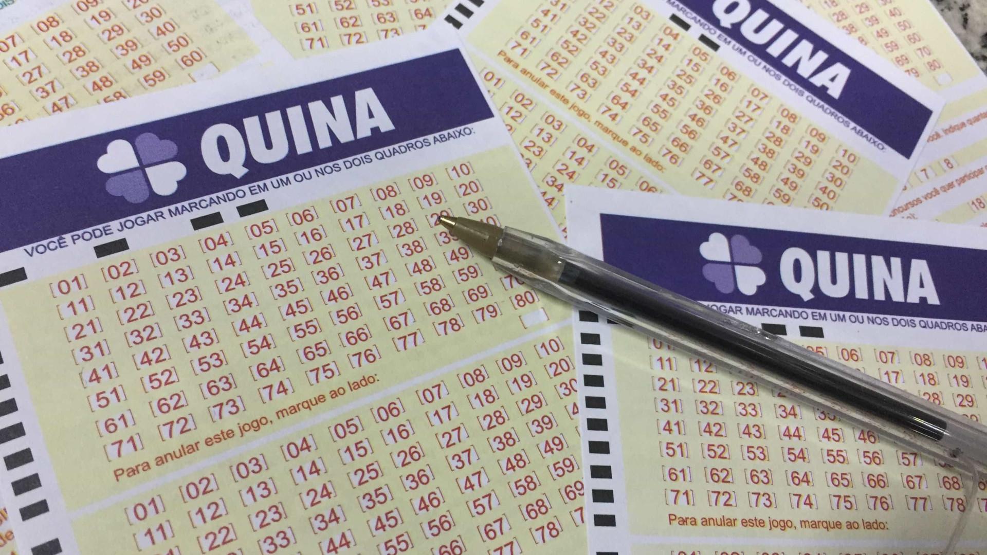 Dois apostadores levam cerca de R$ 620 mil cada na Quina