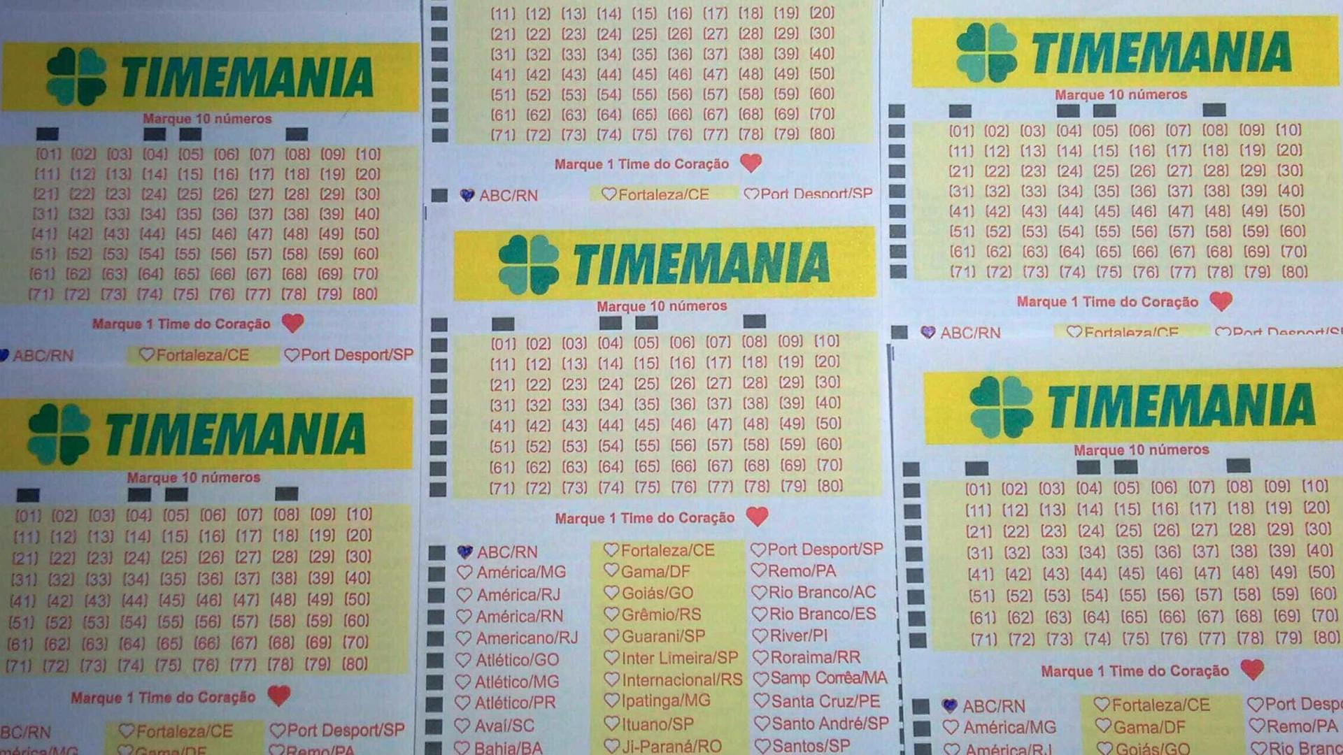 Timemania acumula e próximo prêmio chegará a R$ 21 milhões