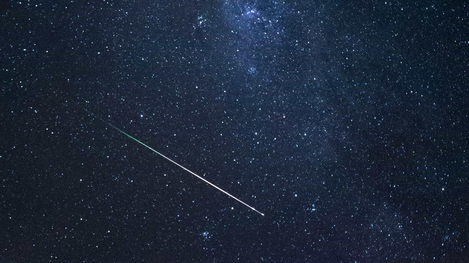 Noite de sábado terá chuva de meteoros