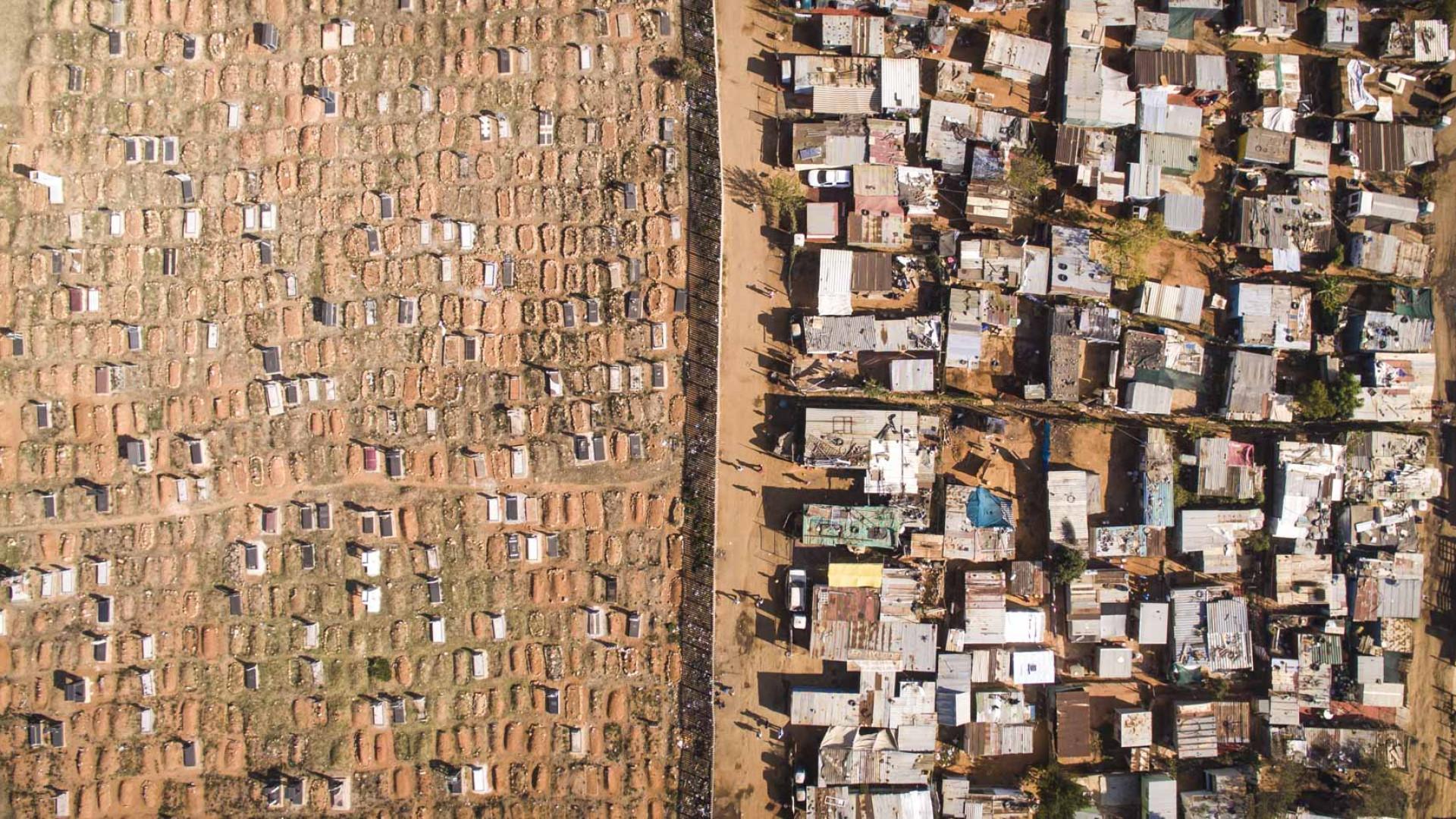 A desigualdade sul-africana vista de cima;  veja as imagens