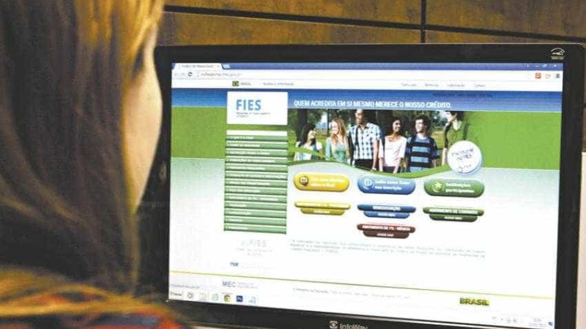 Estudantes já podem renovar a matrícula no Fies; sistema é reaberto