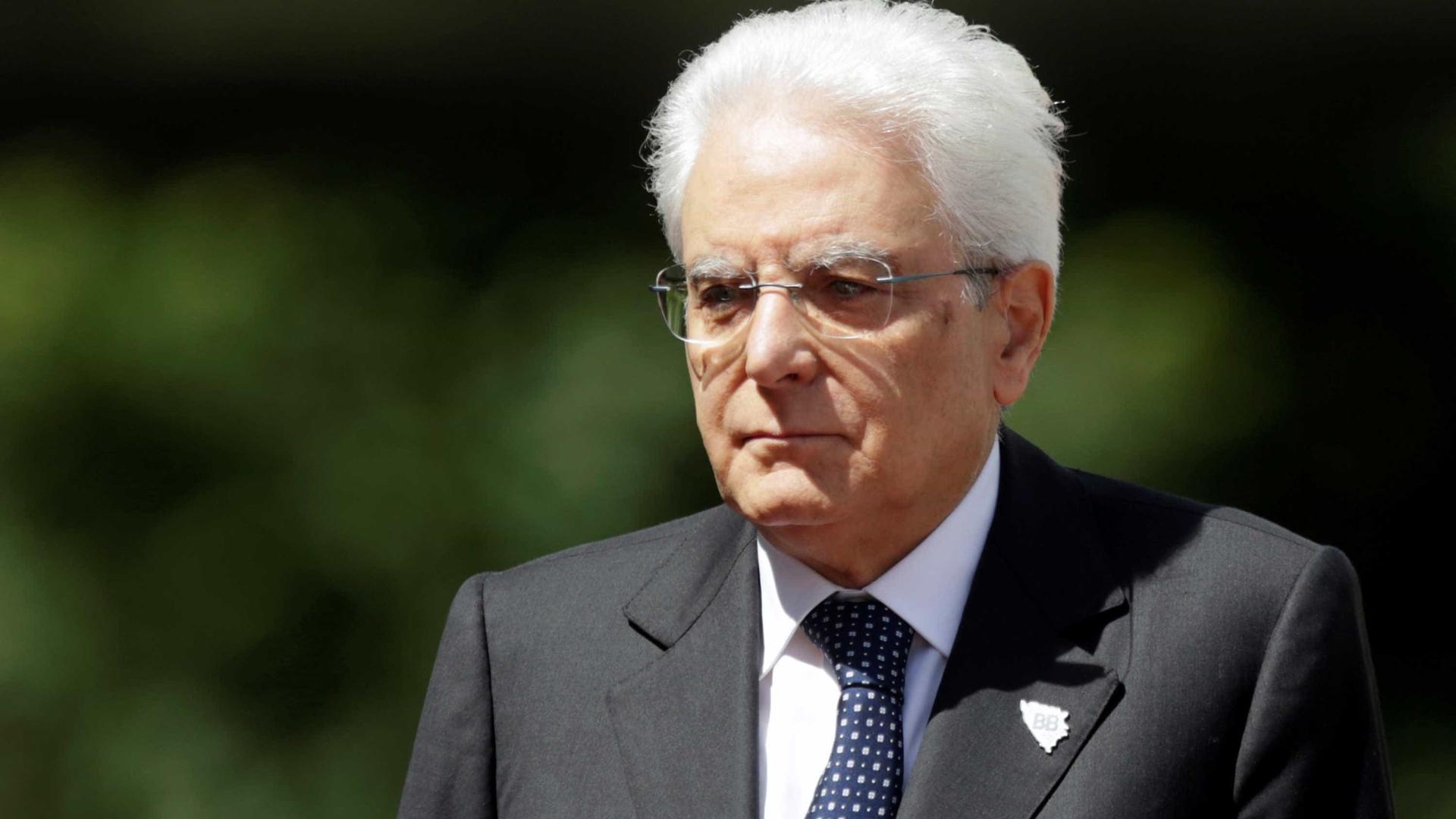 Presidente de Itália abre caminho a novas eleições