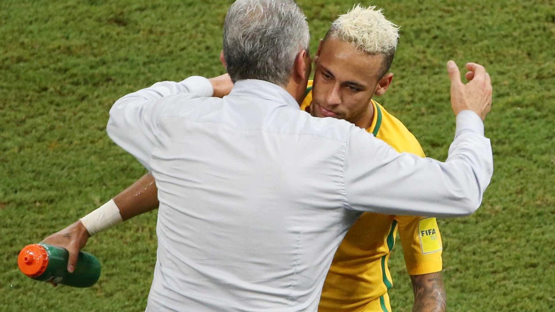 Neymar pede a Tite para ser capitão da seleção brasileira novamente