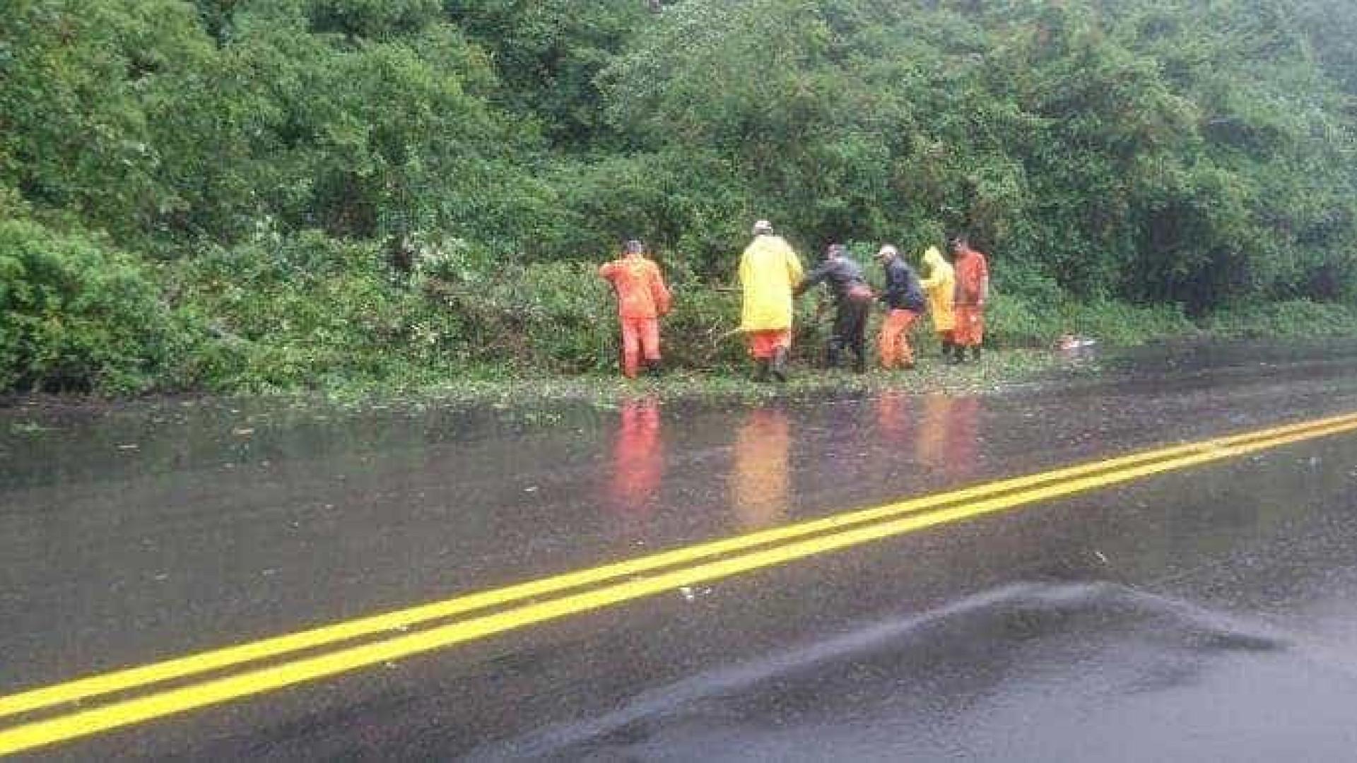 RS tem pelo menos oito estradas  com bloqueios devido às chuvas