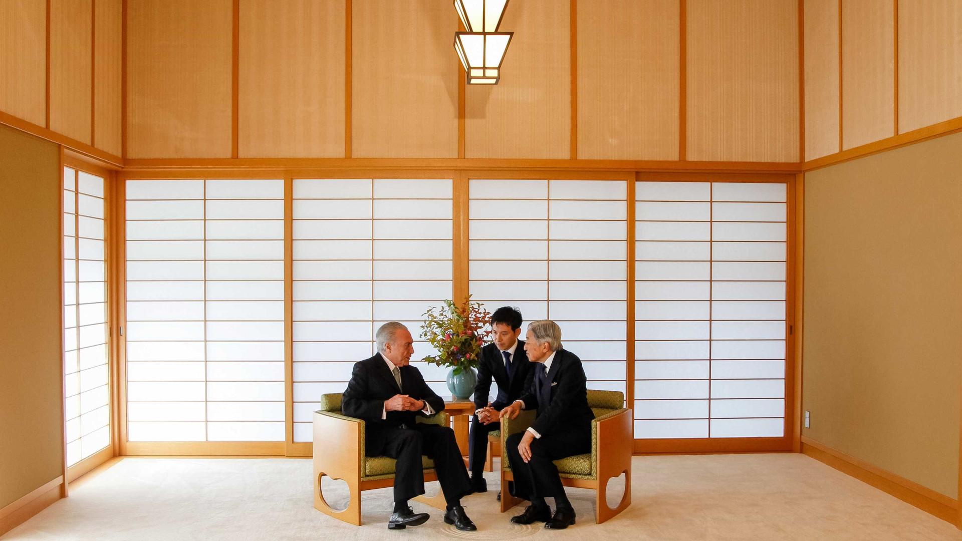 Temer se reúne com imperador do Japão em Tóquio