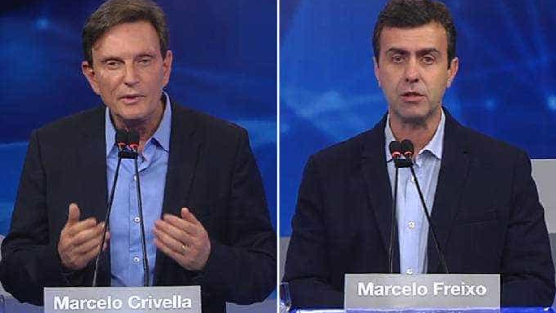 Freixo e Crivella se atacam em debate