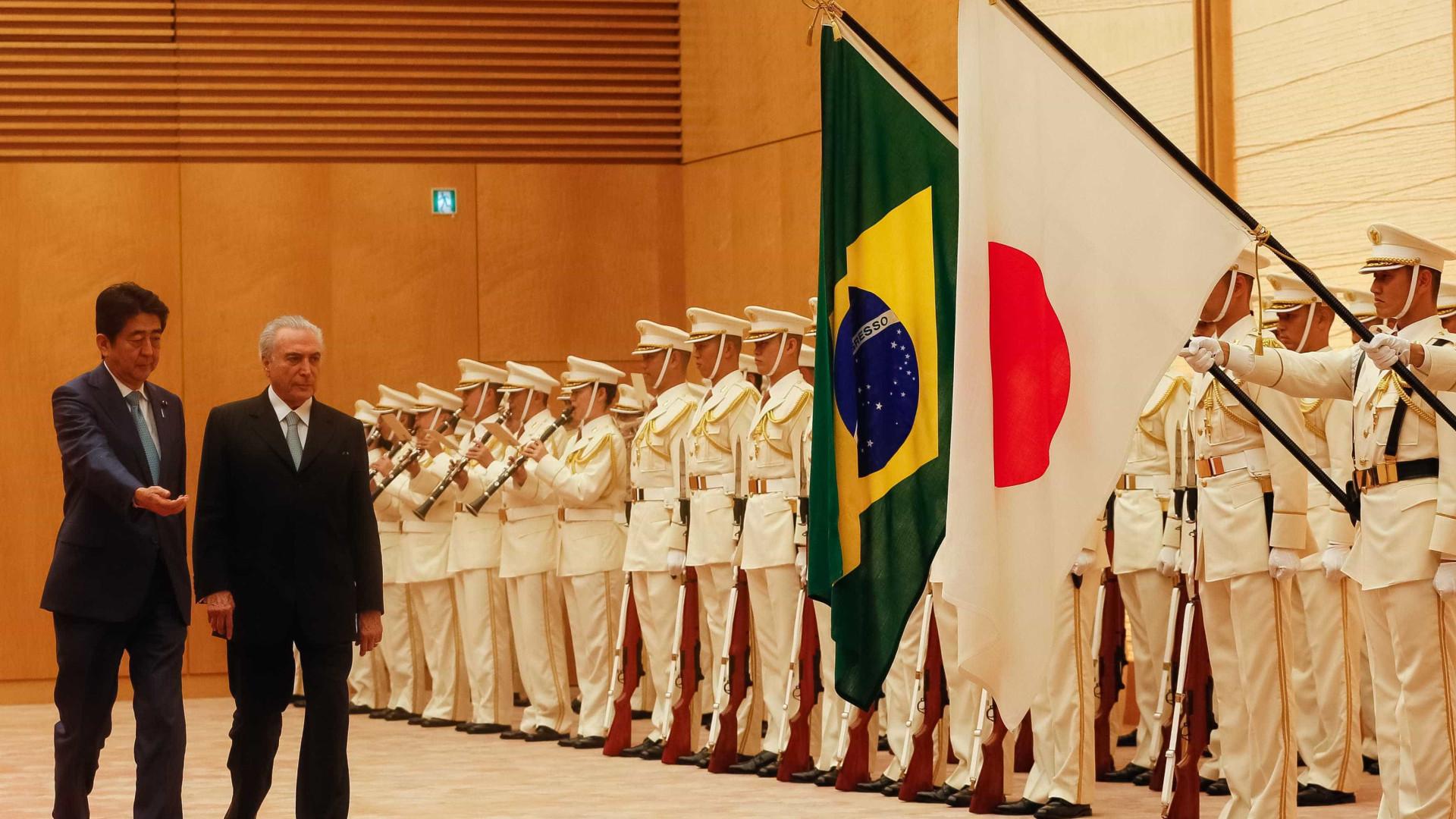 Temer diz que falou sobre 'democracia'  com premiê japonês