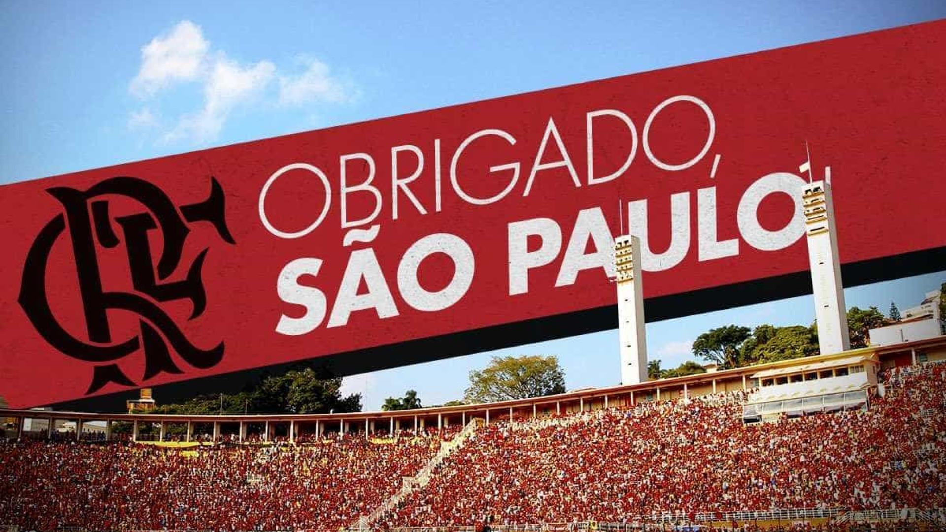 Flamengo agradece cidade de São Paulo por jogos no Pacaembu