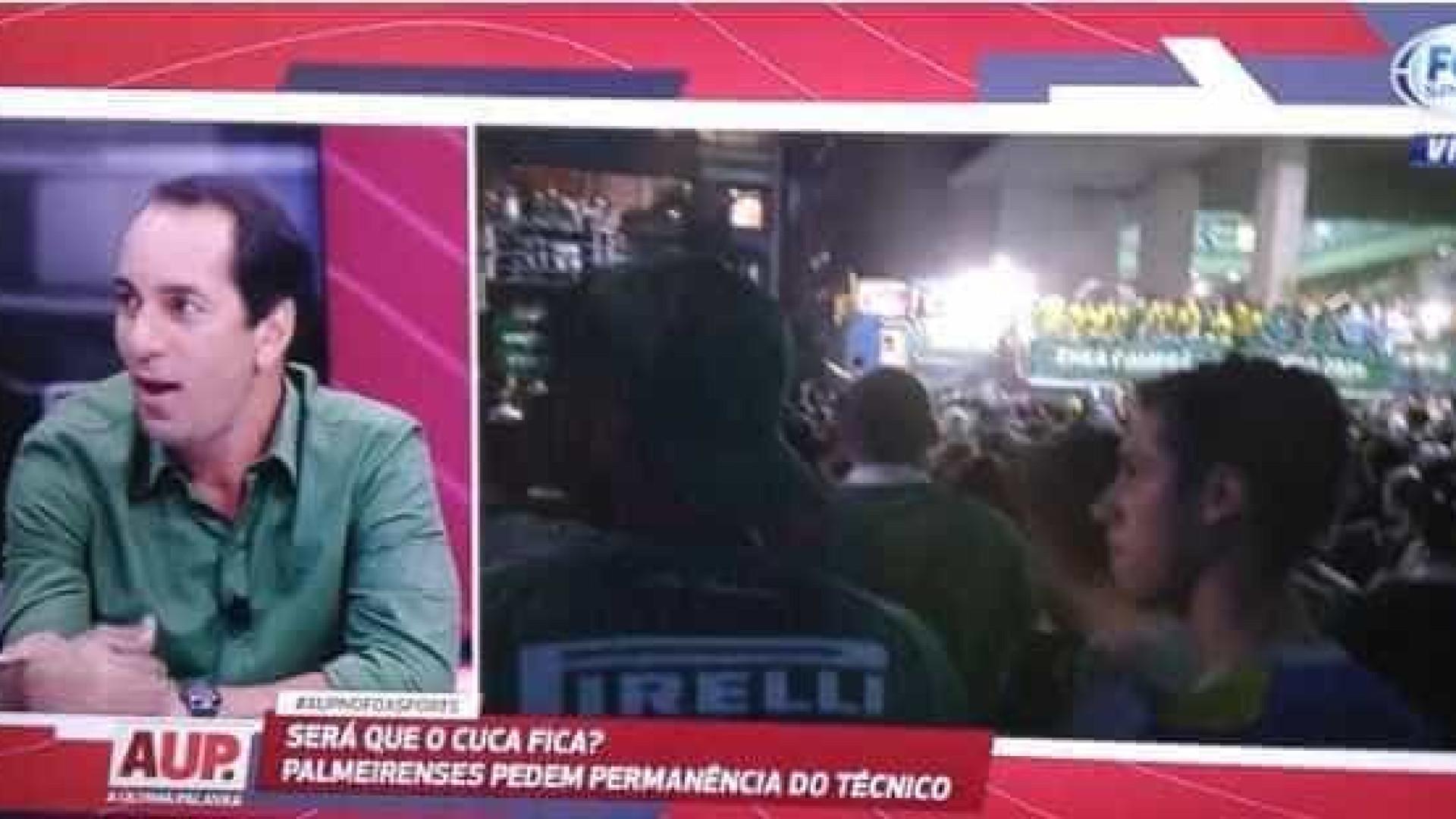 'Meu coração está rouco', diz Edmundo na Fox sobre título do Palmeiras