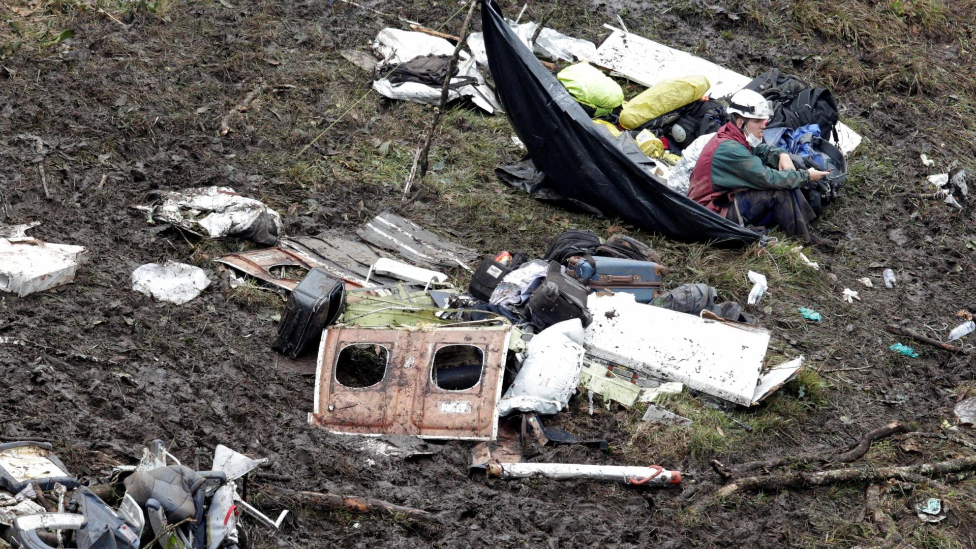 Sobreviventes de tragédia da Chapecoense estavam no alto de morro