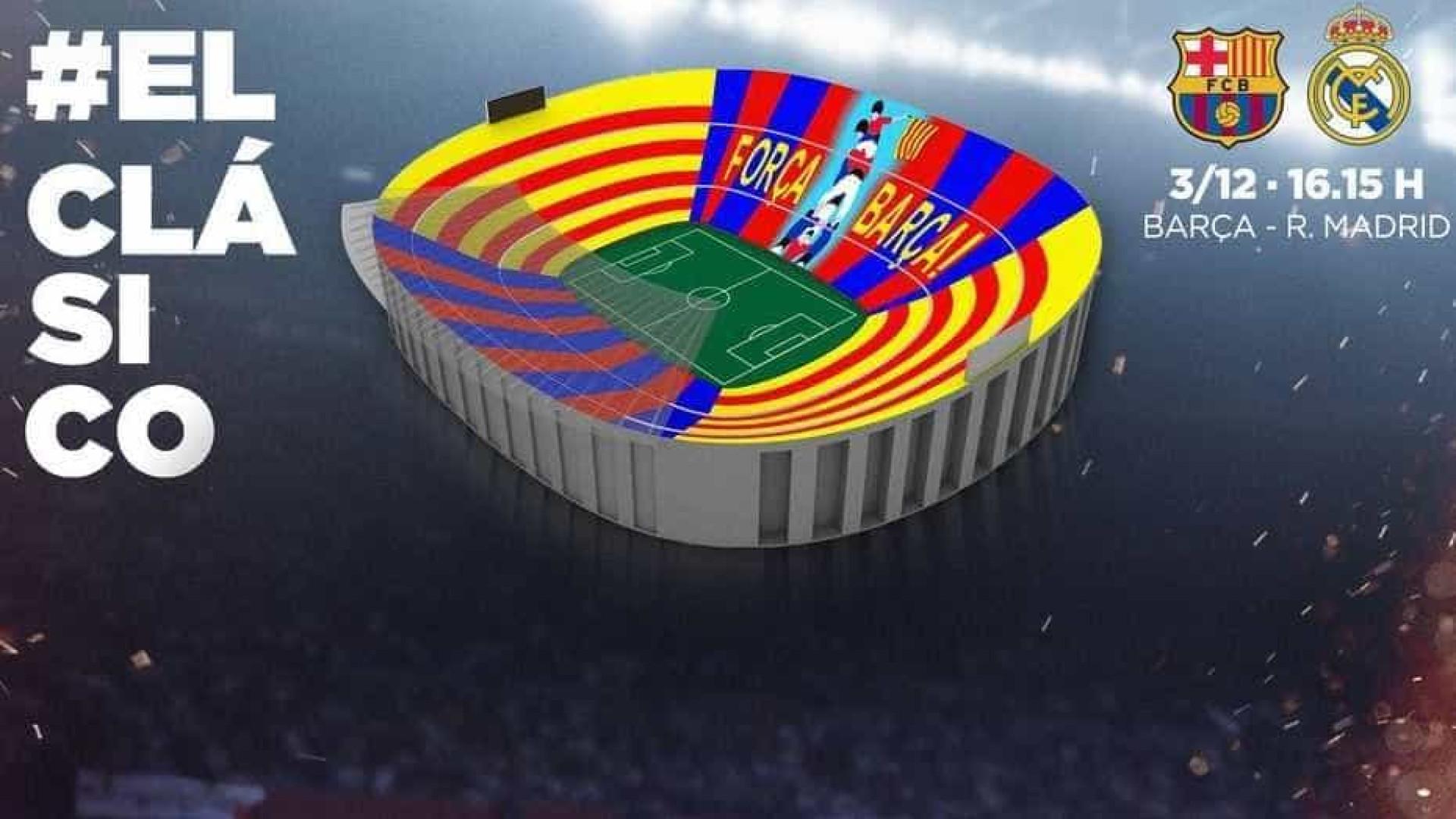 Mosaico do Barça para clássico contra Real terá 'torre humana'; veja