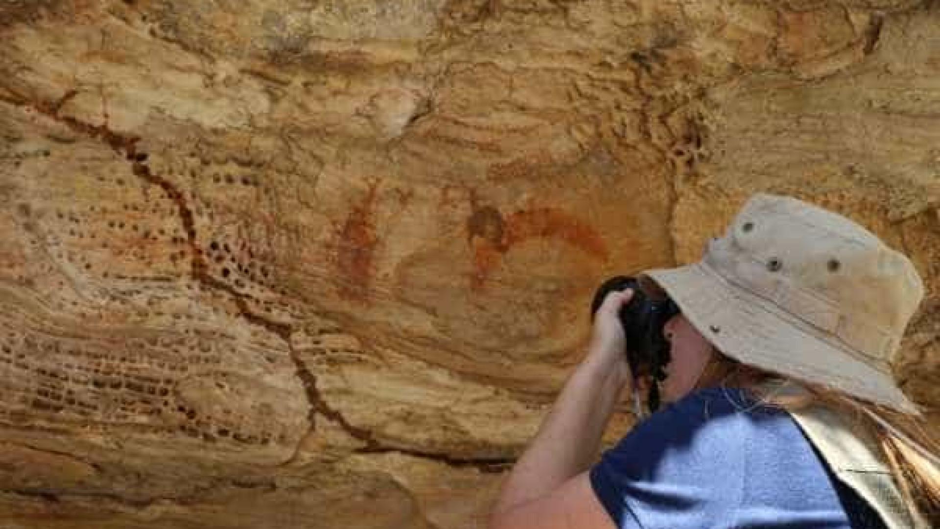 Descobertas pinturas pré-históricas às margens do rio São Francisco