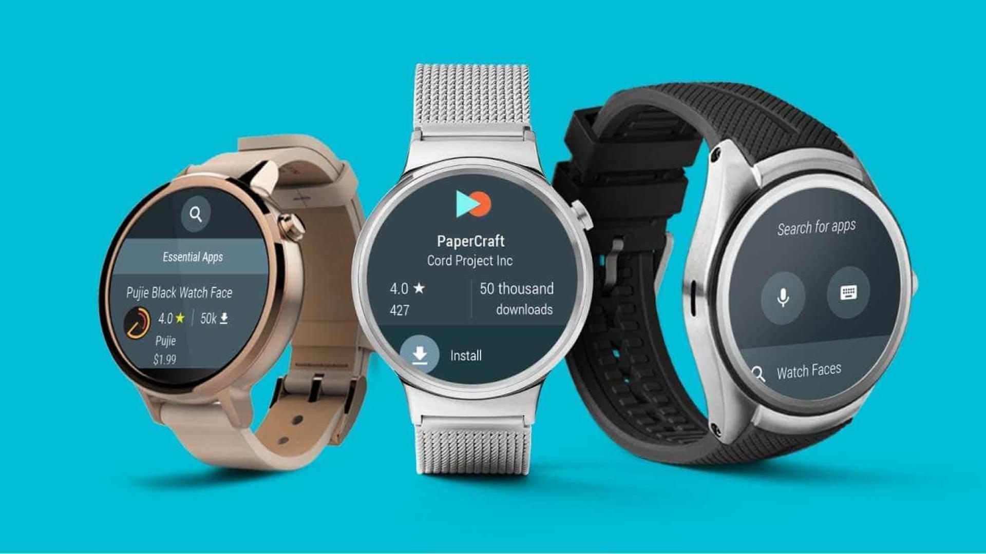 efcf58038b9 Wear 2.0  Relógio inteligente do Google será lançado em fevereiro. ©  Divulgação