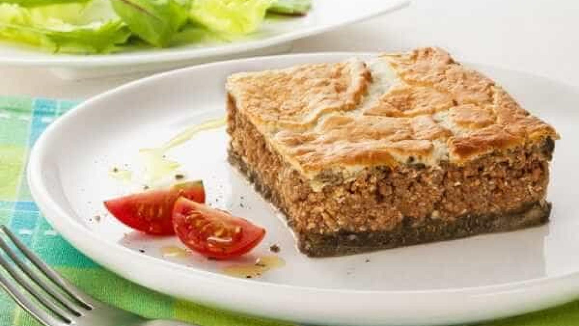 Receita de lanche para a criançada: Torta Grega de Acém