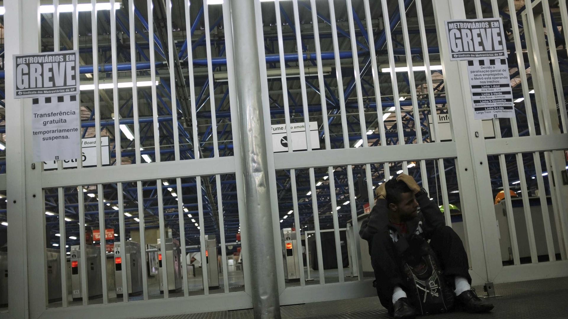 São Paulo tem estações de metrô fechadas na manhã desta quinta