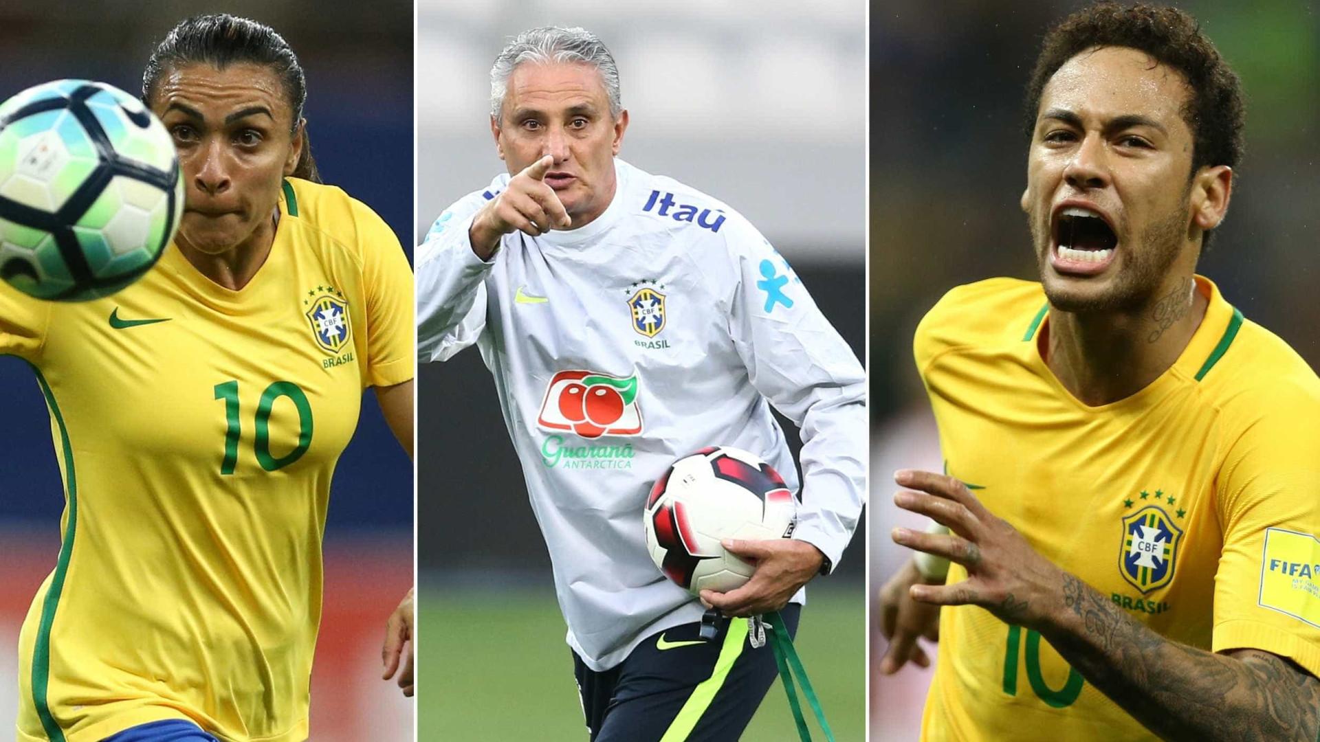 Lista dos 100 nomes mais influentes do futebol tem Marta, Tite e Neymar