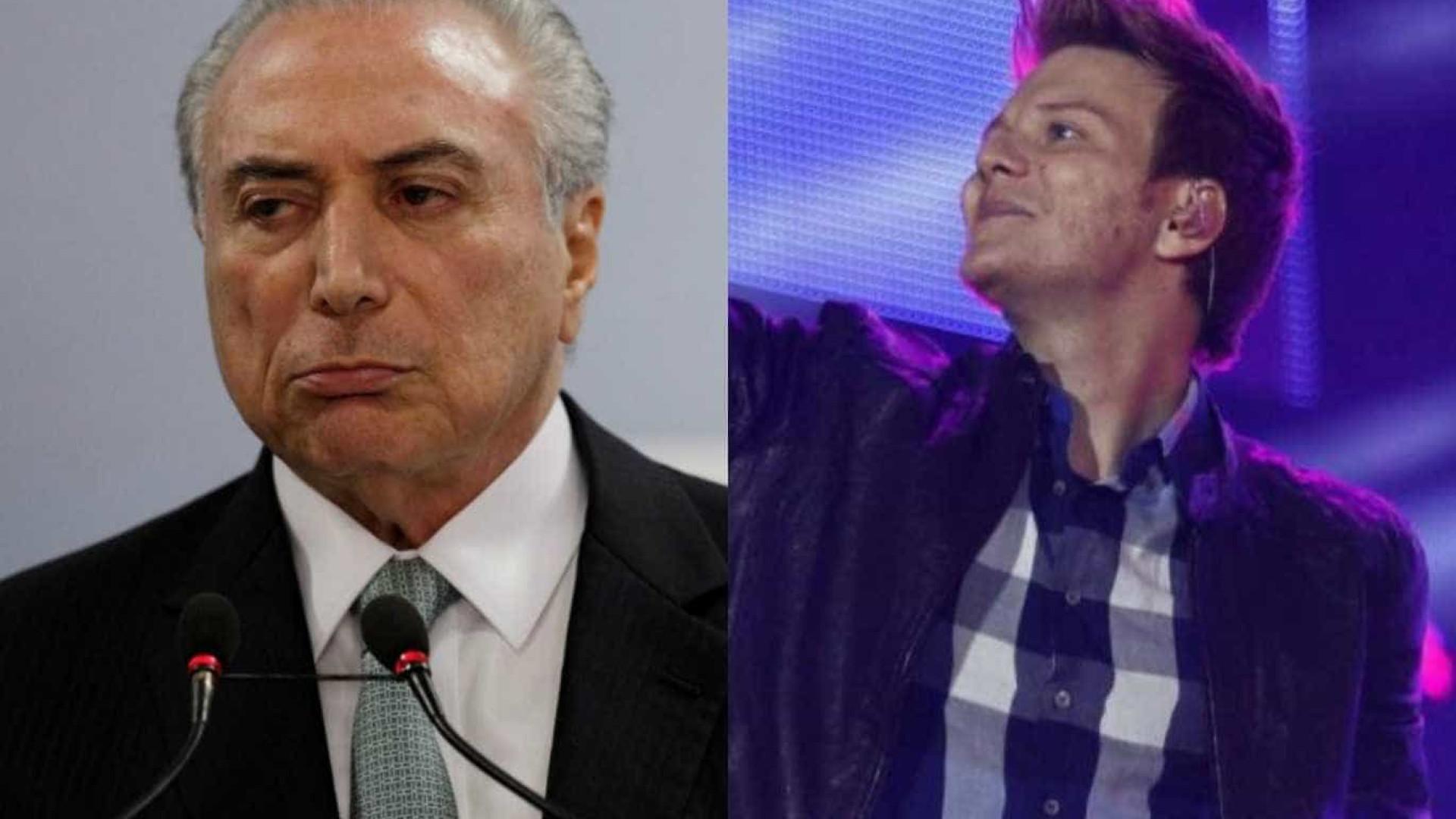 Internauta confunde Teló com Temer e cantor brinca com situação