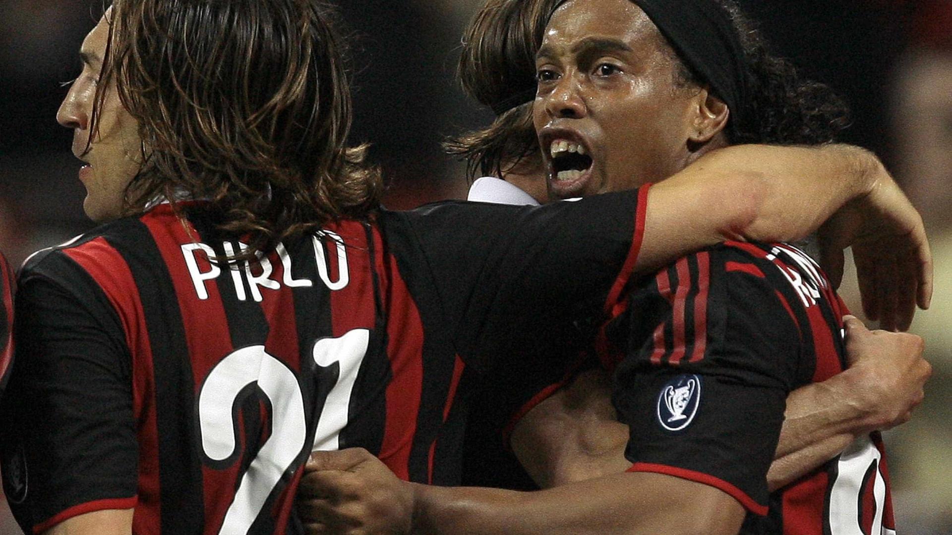 Ronaldinho manda recado a Pirlo: 'Tive prazer de  jogar contigo'