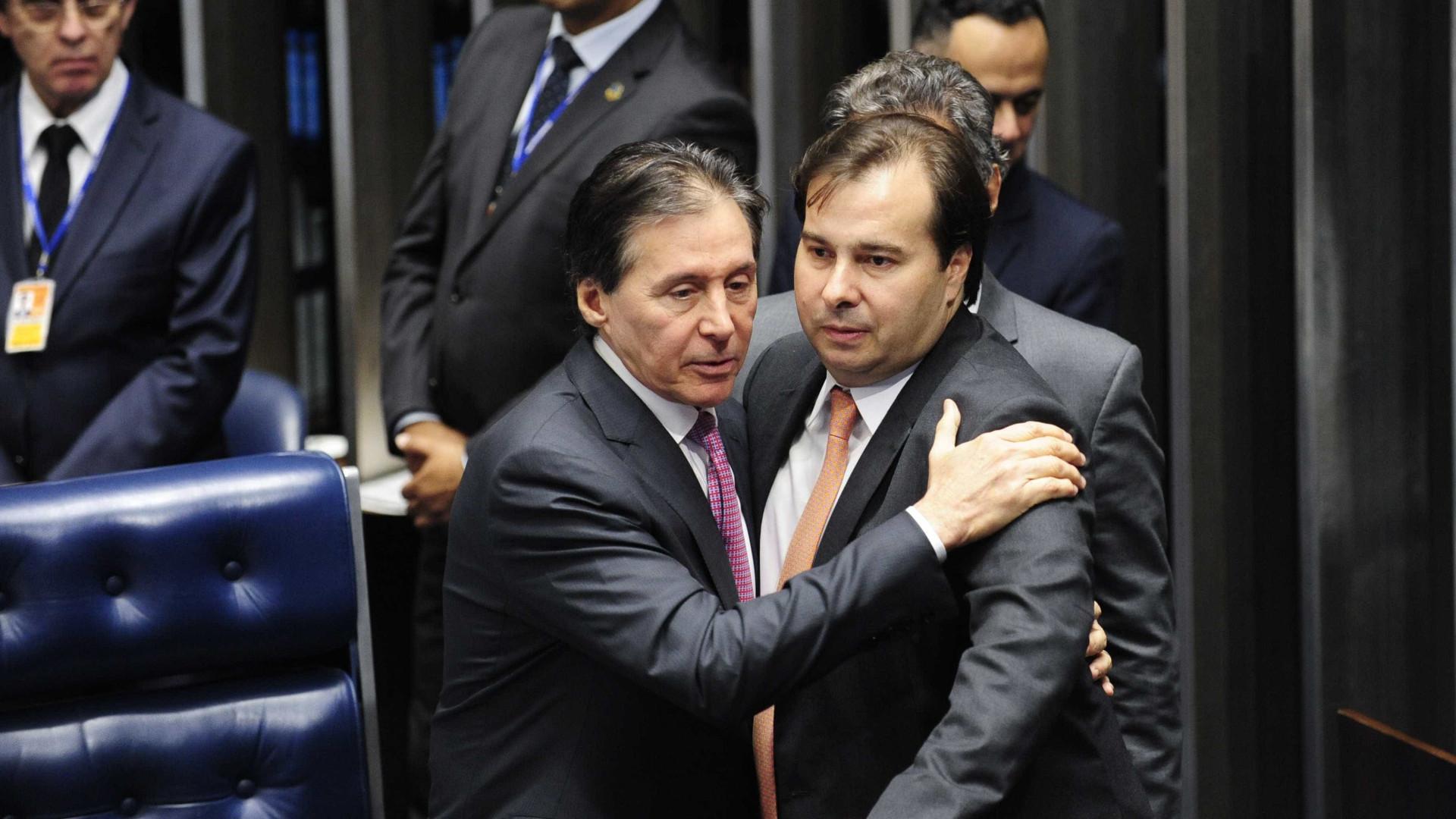 Maia e Eunício marcam extensa pauta  de votações em meio a crise