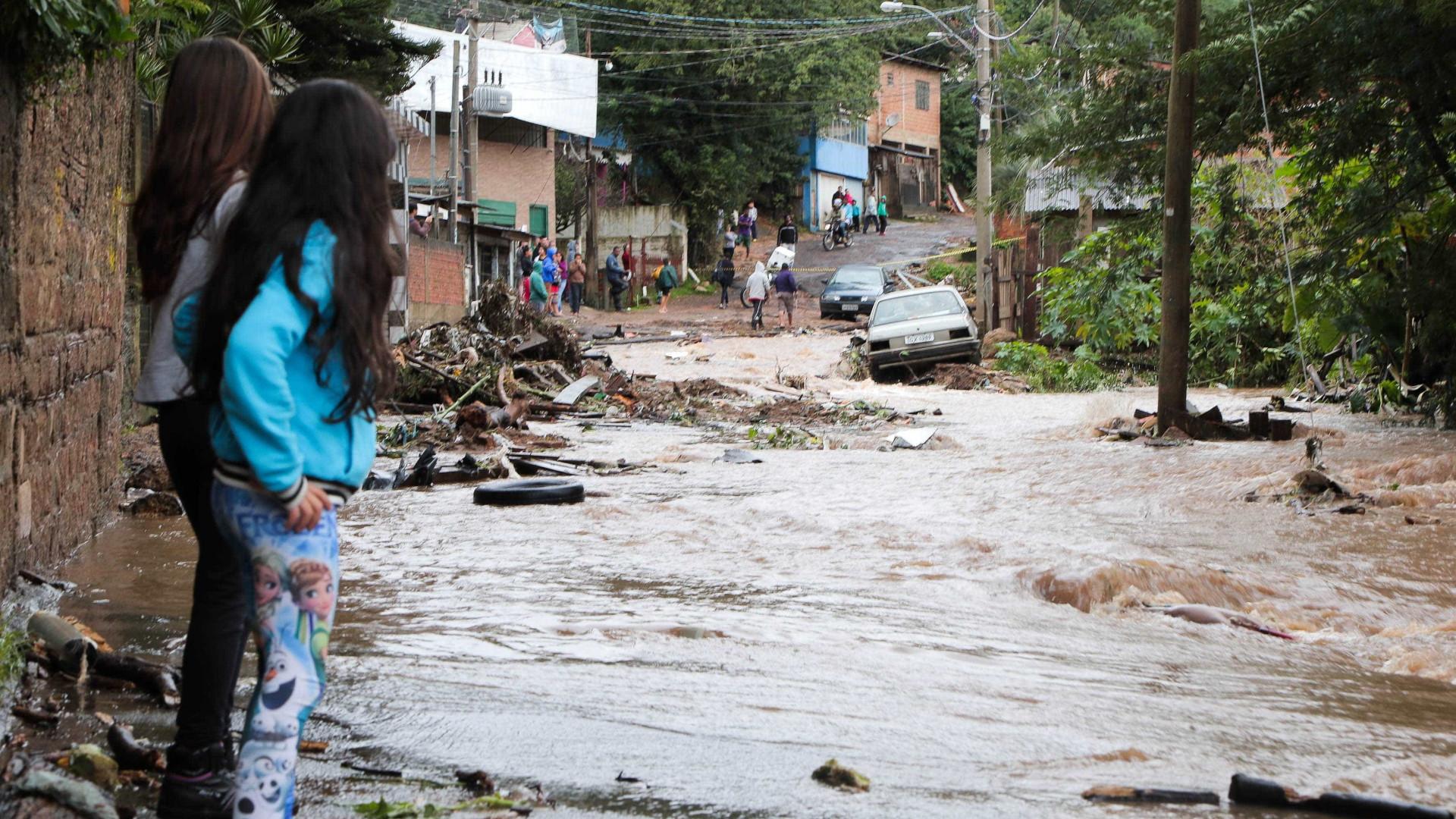 Chuvas intensas causam danos a dez cidades do Rio Grande do Sul