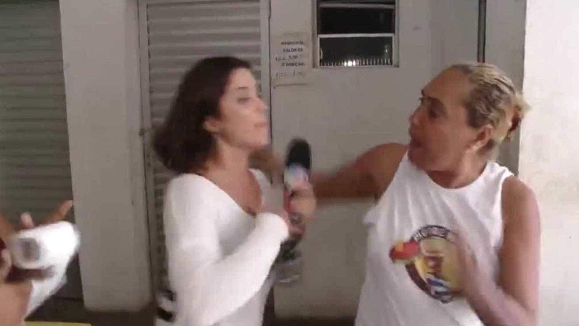 Vídeo mostra repórter sendo agredida enquanto gravava matéria na Bahia