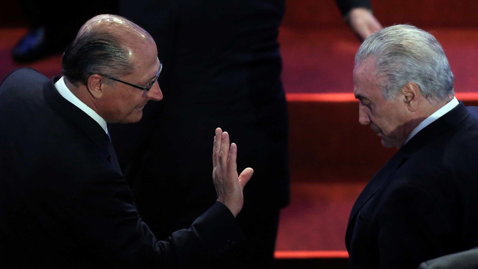 Temer e Alckmin discutirão saída do PSDB do governo no sábado