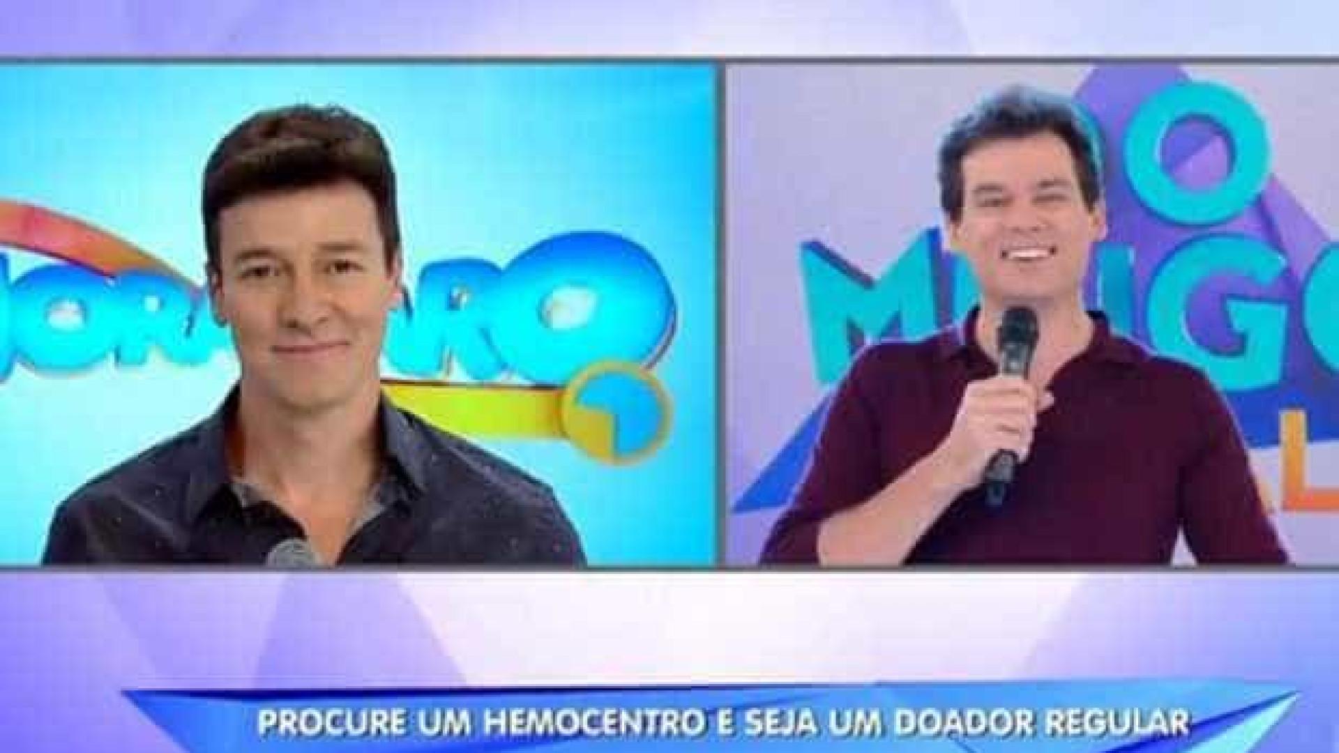 Rodrigo Faro aparece no programa de Portiolli e fãs 'enlouquecem'
