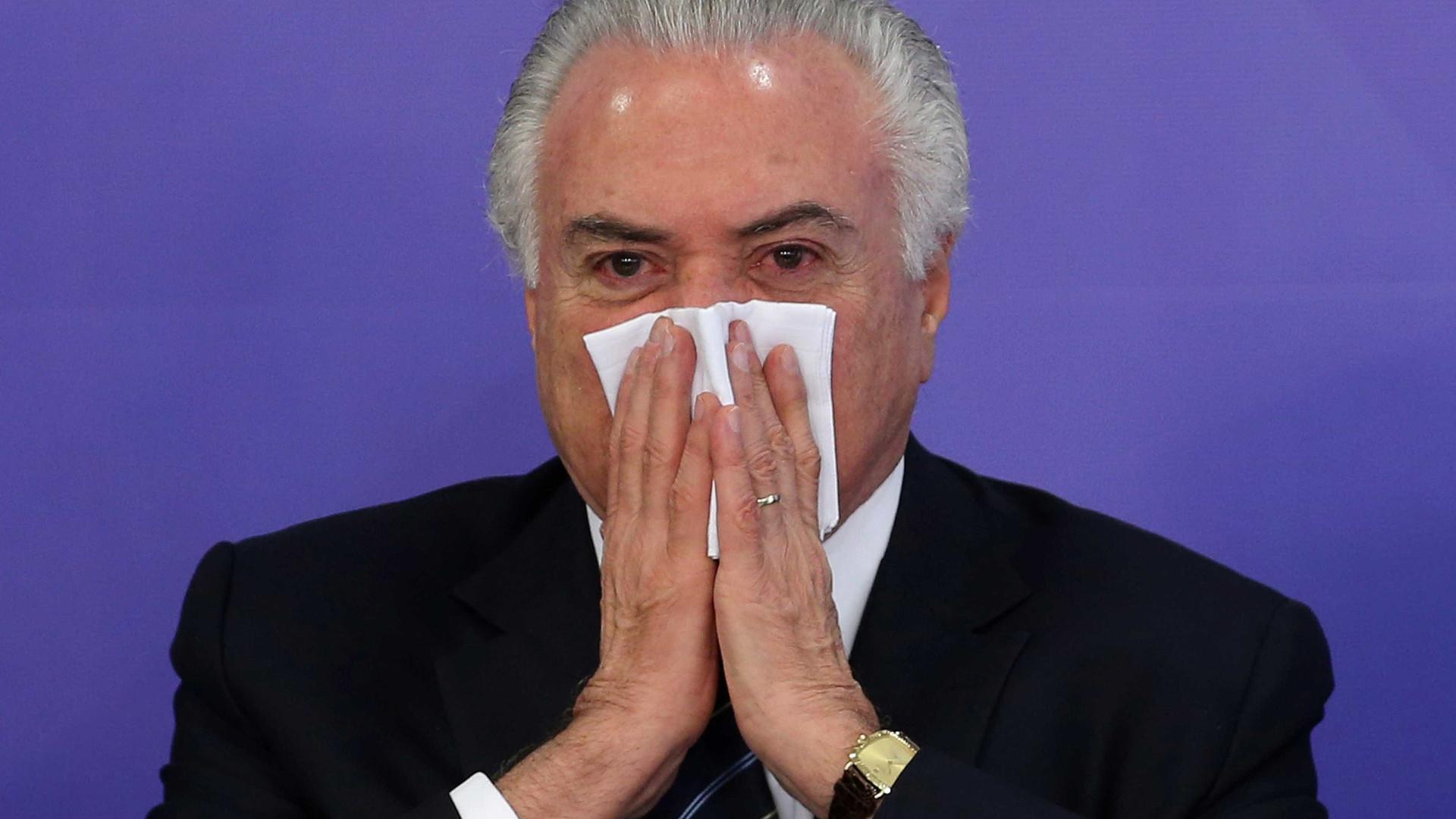 PF vê indícios de que Temer e PMDB da Câmara são organização criminosa