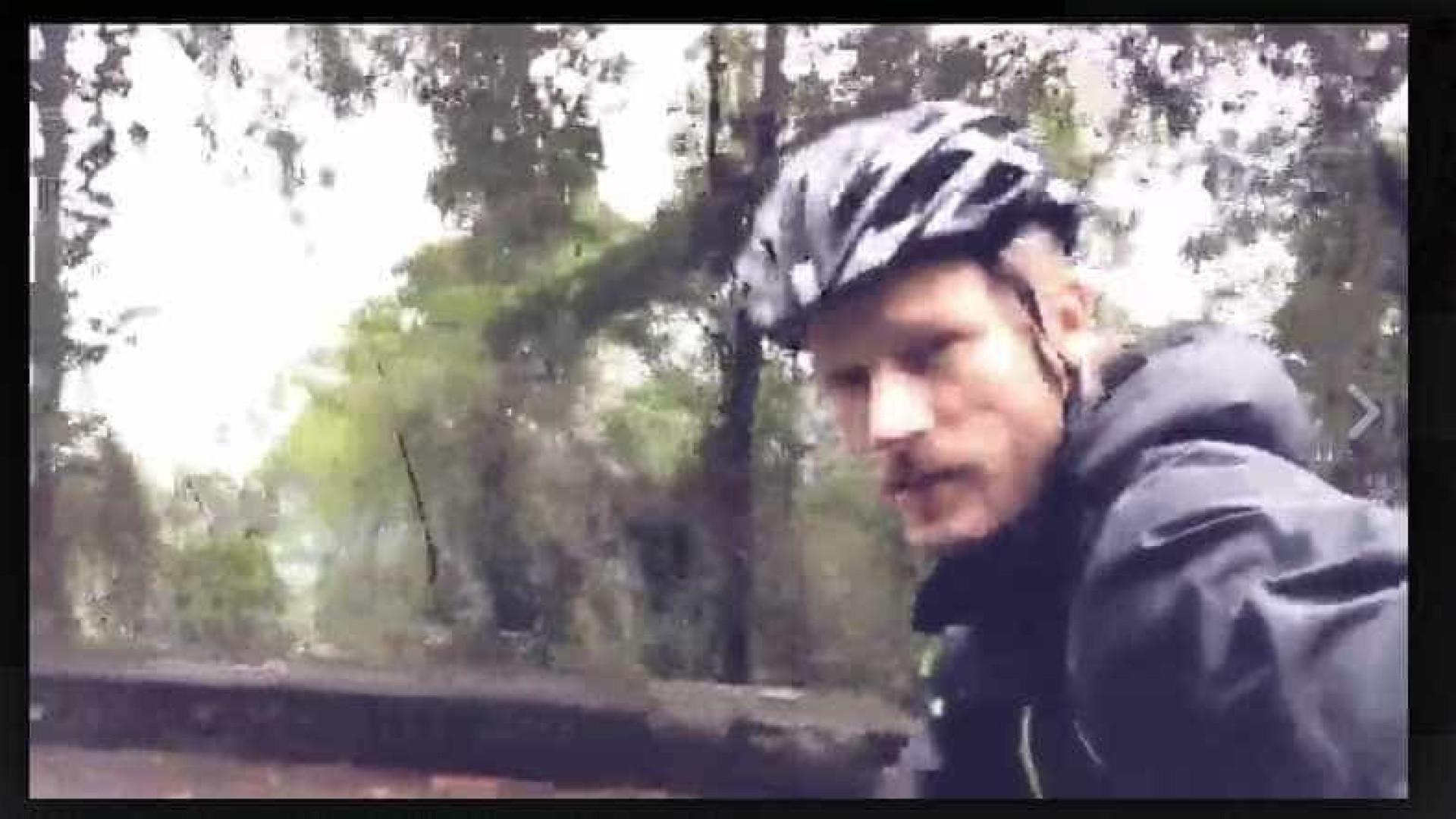 Hilbert pedala 300km de madrugada em treino para prova de ciclismo