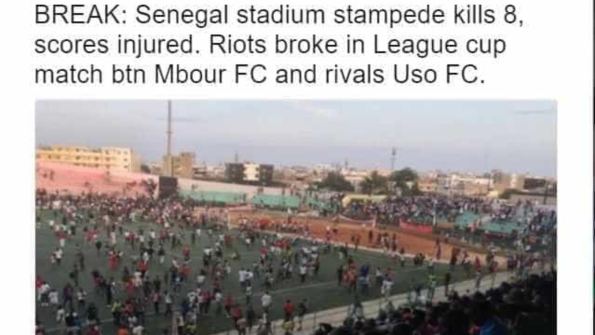 Oito pessoas morrem durante briga entre  torcidas no Senegal; vídeo