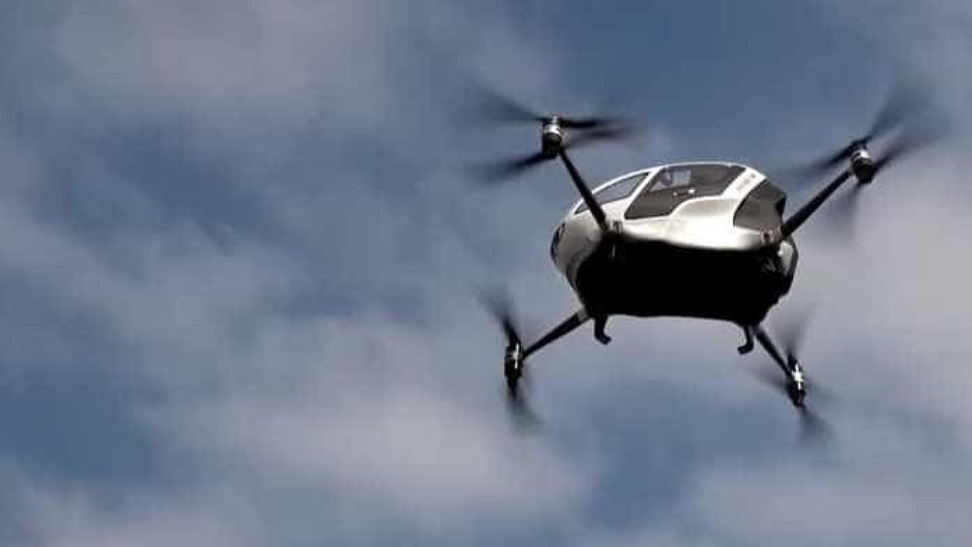Produção de primeiro táxi voador não tripulado está prevista para 2018