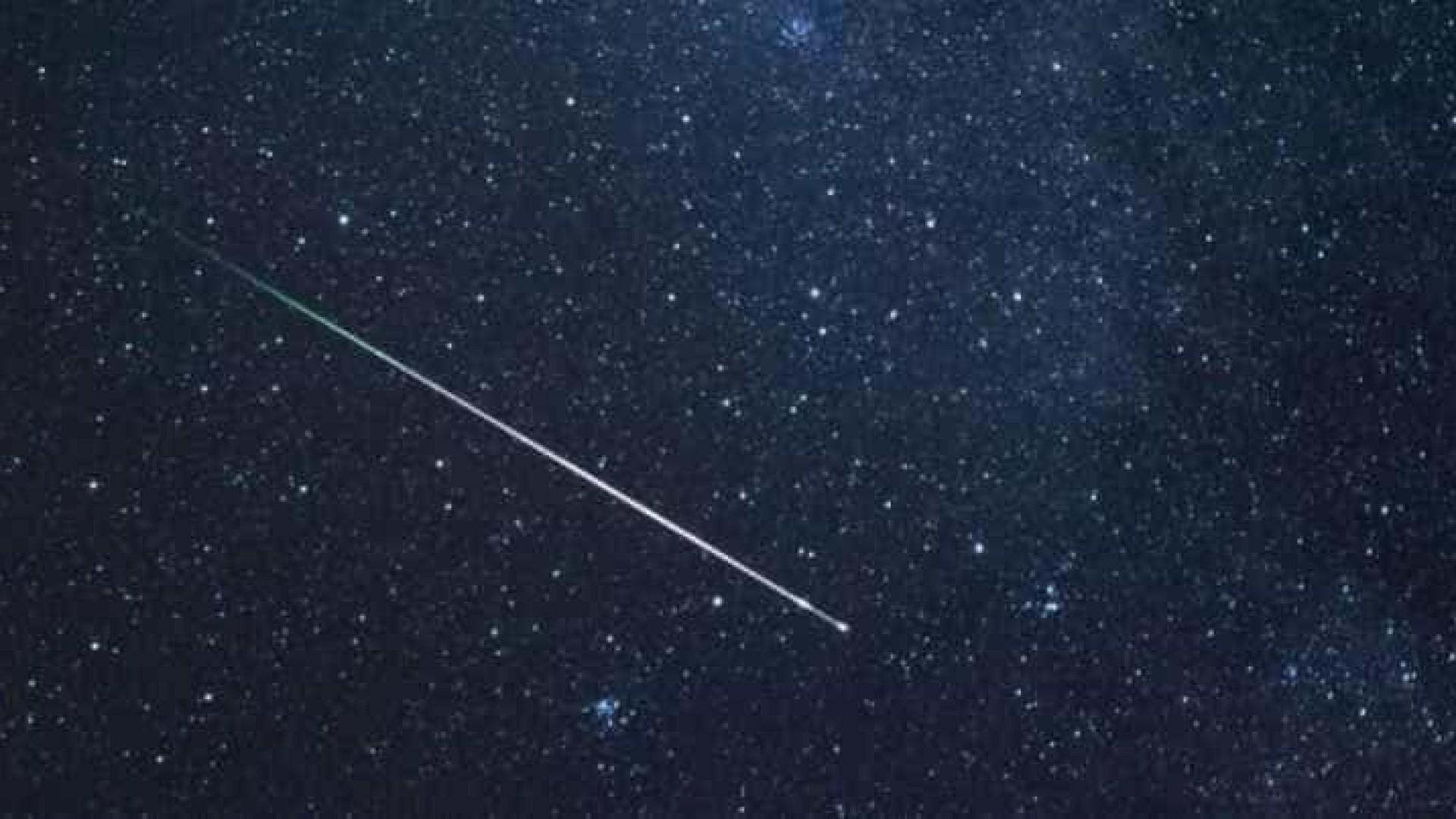 Chuva de estrelas cadentes vai iluminar a madrugada de domingo