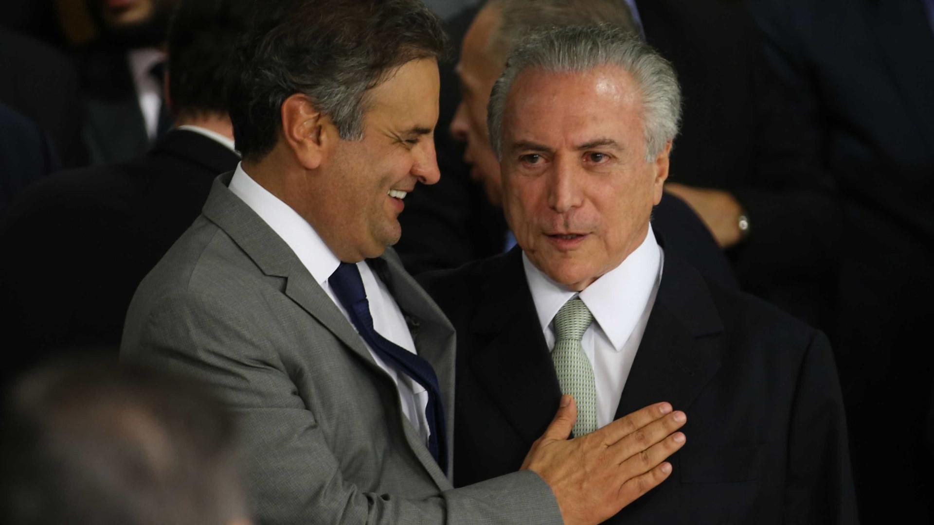 Únicos votos pró-Temer no PSDB foram de aliados de Aécio Neves