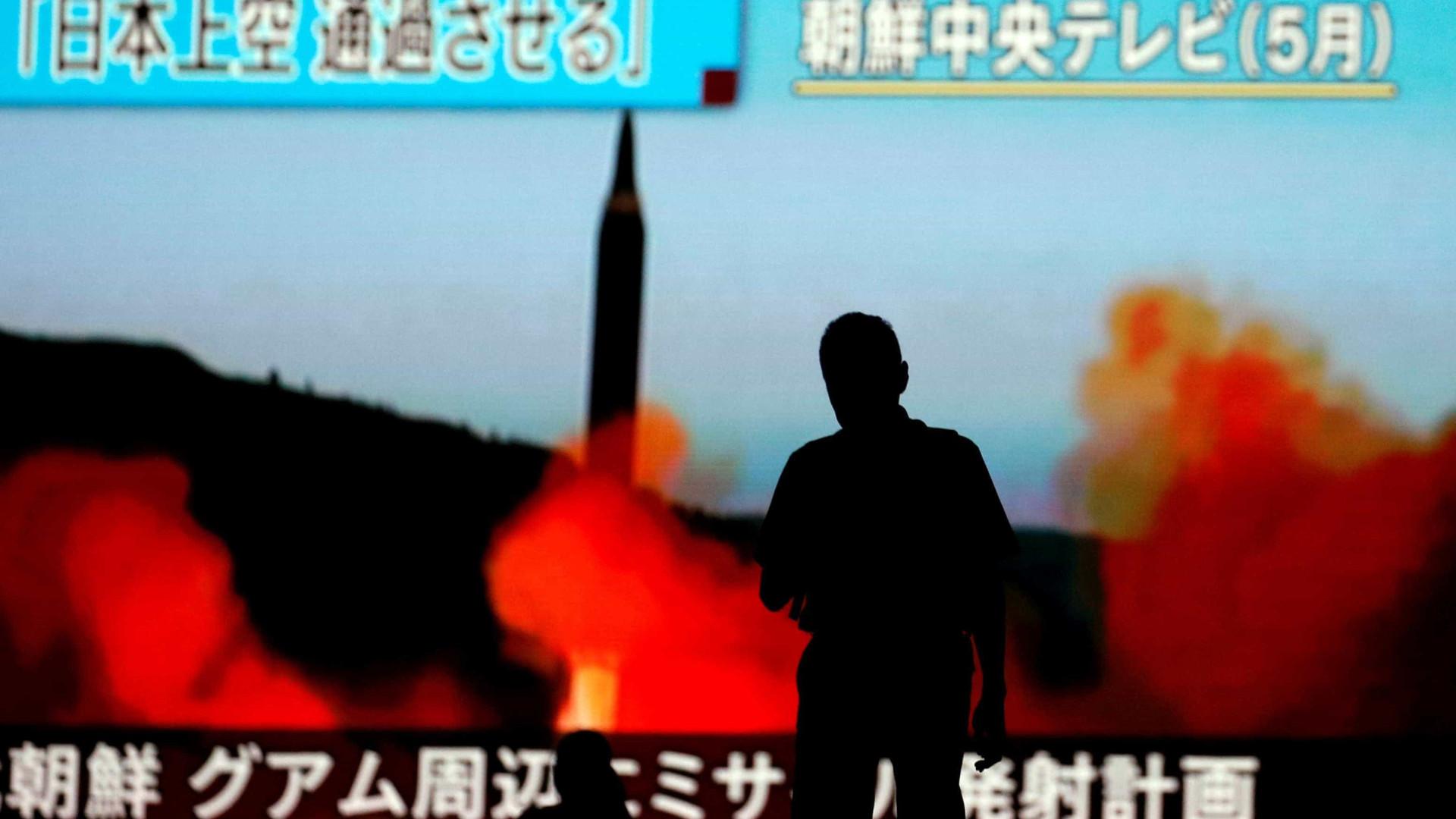 Coreia do Norte dispara míssil em direção ao norte do Japão