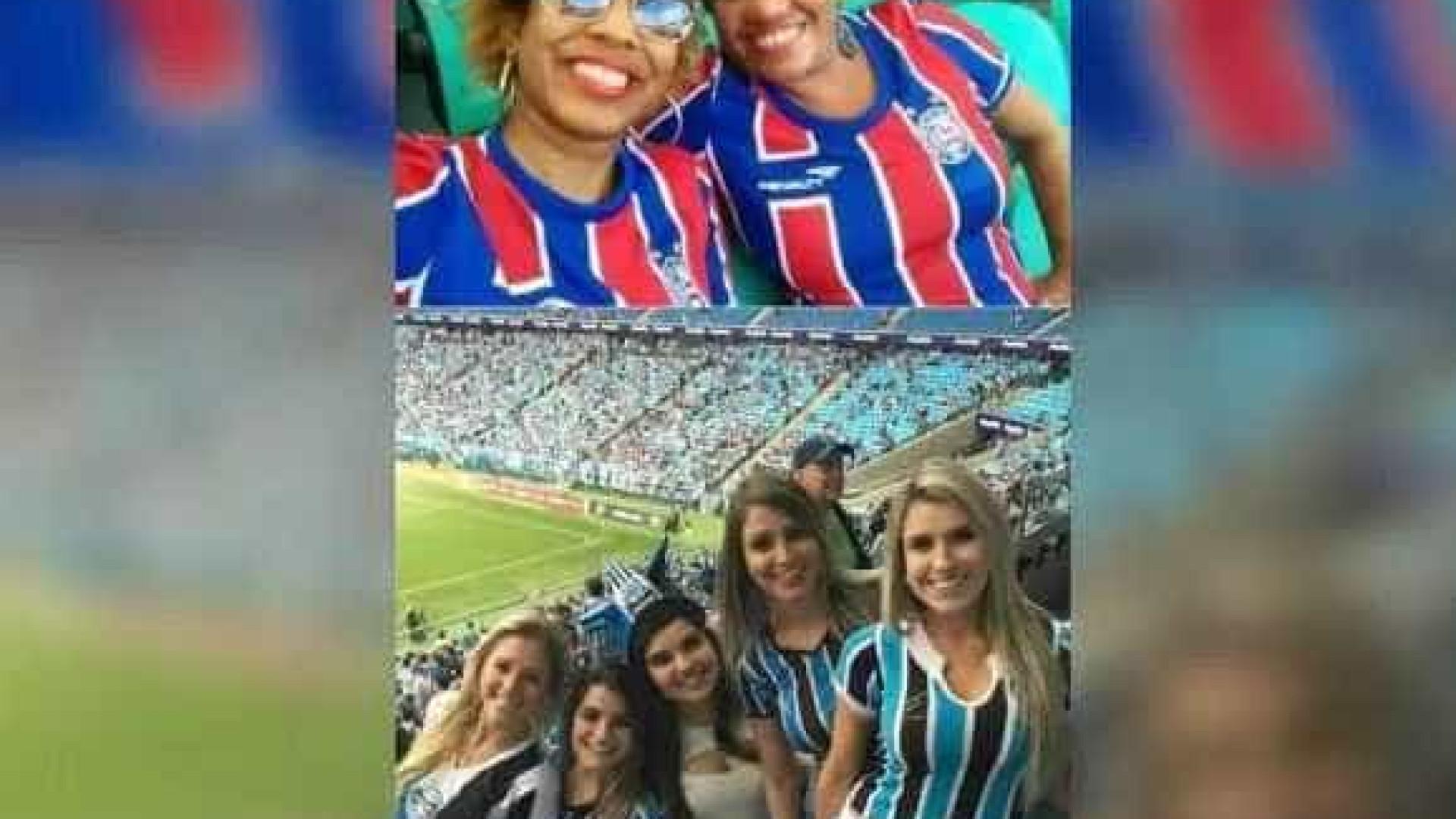 Torcedora do Bahia denuncia racismo em montagem com gremistas