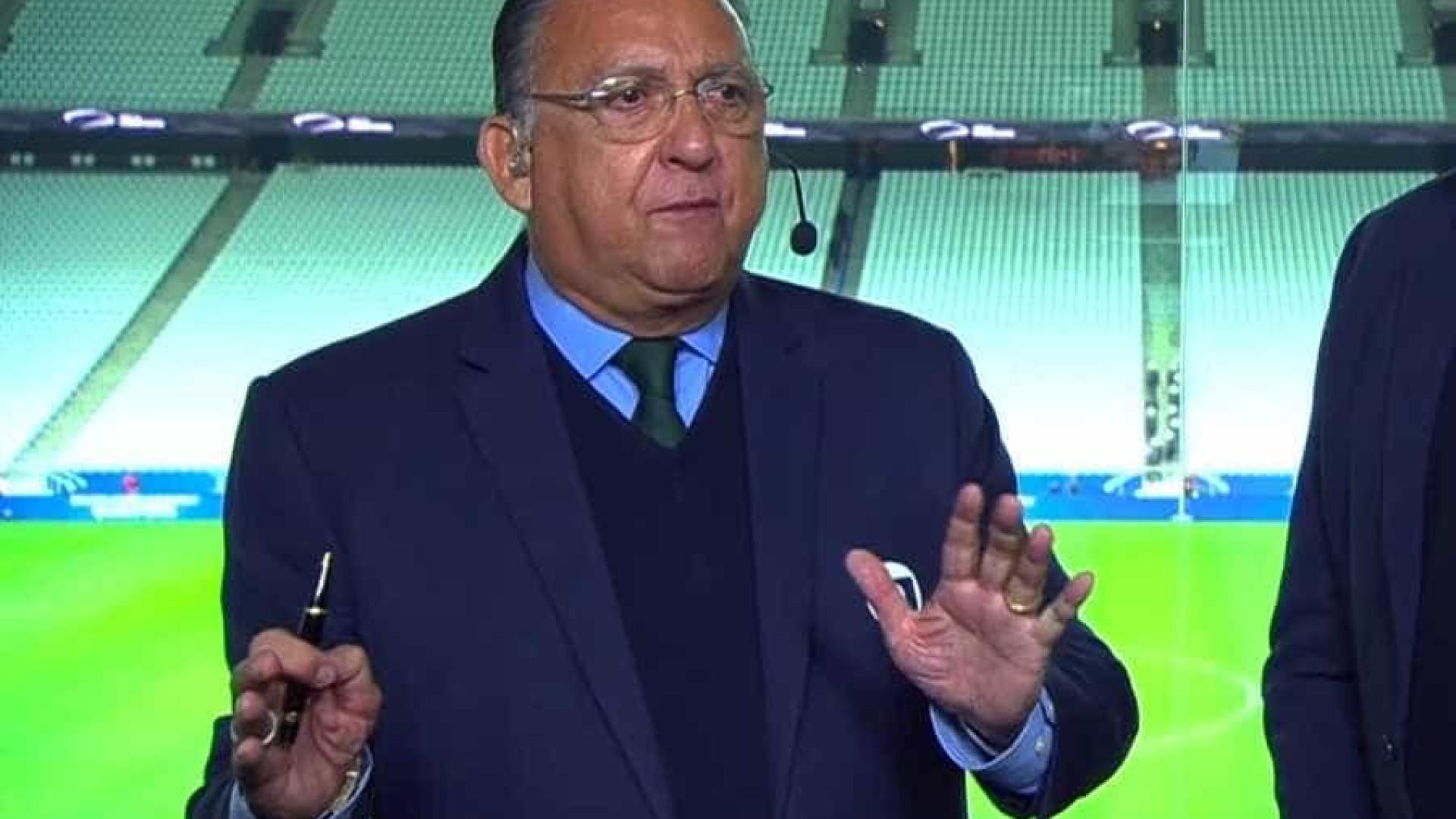 Galvão Bueno perde a paciência com presidente da CBF: 'Vergonha'
