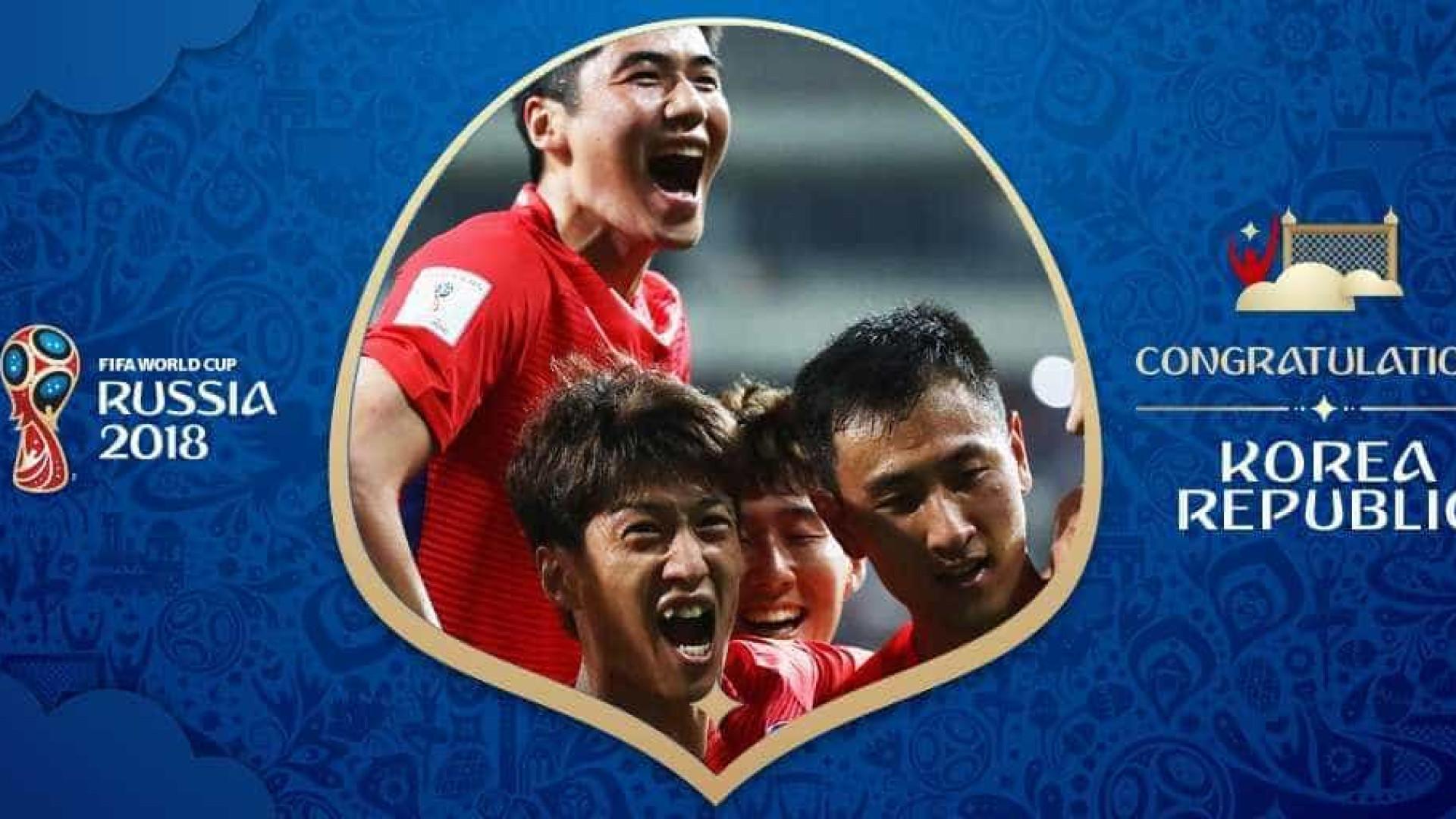 Coreia do Sul é a sexta seleção a garantir a qualificação