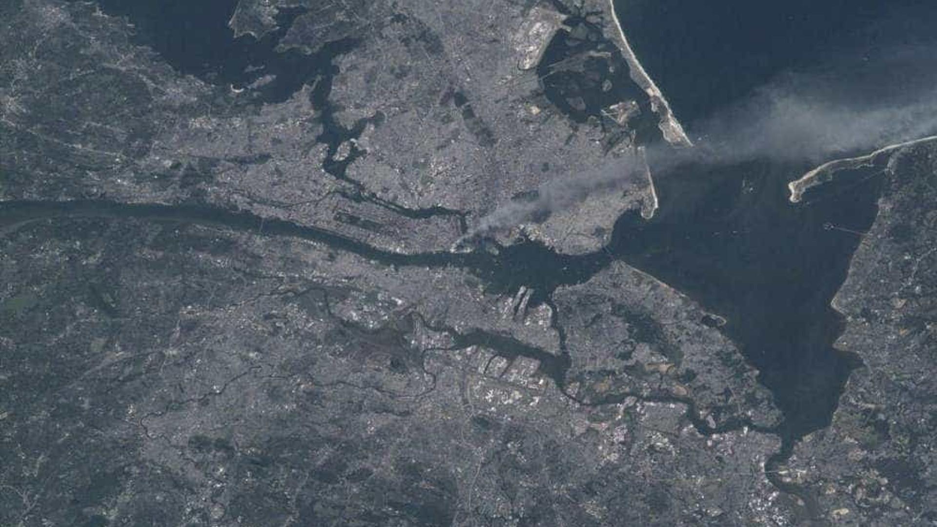 NASA mostra atentado de 11 de setembro visto do espaço