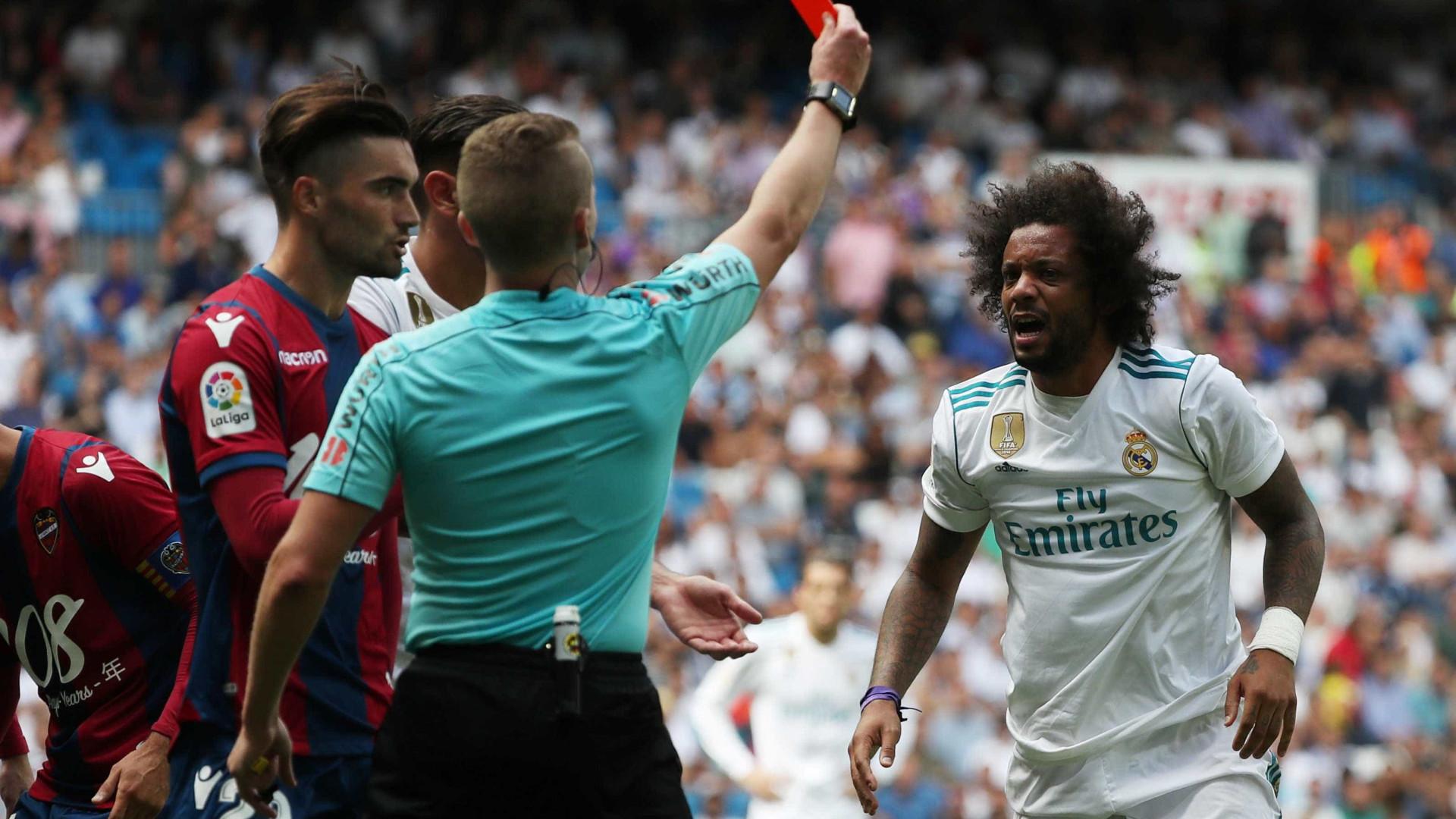 Marcelo pega gancho de dois jogos e desfalca o Real na Liga Espanhola