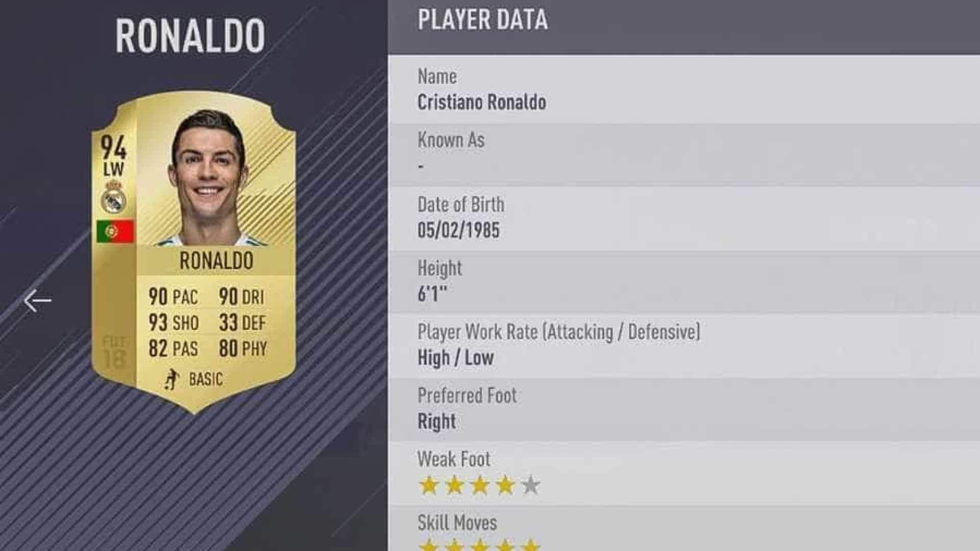 ComCristiano Ronaldo 'emprestado',Fifa 18 paraPC tempré-venda